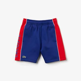 Lacoste Boys' SPORT Lettering Two-Tone Fleece Shorts