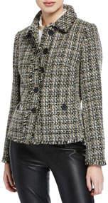 Peter Pan Collar Tweed Blazer
