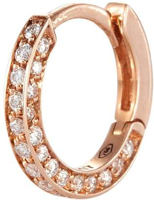 Repossi 'Mini Créole' diamond 18k rose gold single earring