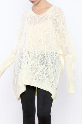 Ppla Oversized Cable-Knit Sweater