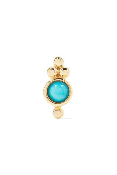 Maria Tash - Trinity 14-karat Gold Turquoise Earring