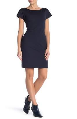 Theory Andrizza Twisted Back Sheath Mini Dress