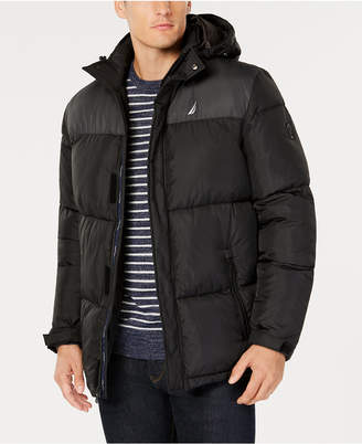 Nautica Men's Colorblocked Hooded Parka