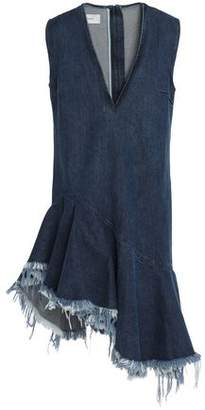 Marques Almeida Marques' Almeida Asymmetric Ruffled Denim Mini Dress