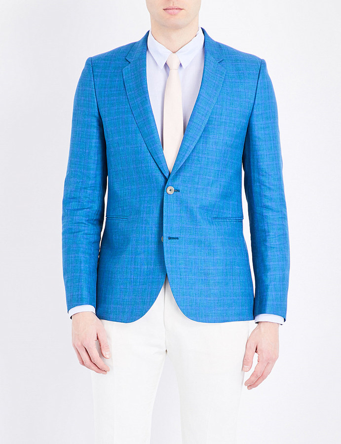 Paul SmithPaul Smith Regular-fit wool and linen-blend jacket