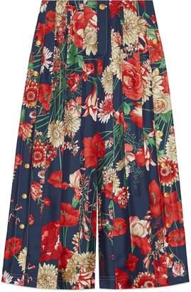 Gucci Star pattern silk pleated pant