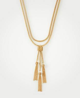 Ann Taylor Layered Tassel Necklace