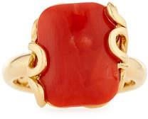 Miseno Sea Leaf Coral Ring in 18K Gold, Size 6
