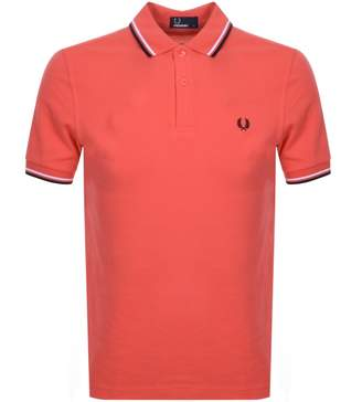 Fred Perry Twin Tipped Polo T Shirt Red