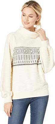 Lucky Brand Women's Fairisle Turtleneck Pullover Sweater