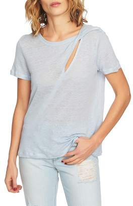 1 STATE 1.State Cutout Linen Tee