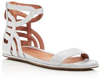 Kenneth Cole Gentle Souls by Gentle Souls Women's Larisa Snake Embossed Leather Ankle Strap Demi Wedge Sandals