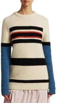 Calvin Klein Textured Stripe Wool Sweater