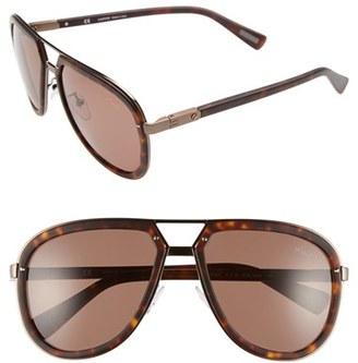 Men's Lanvin Aviator Sunglasses - Dark Havana/ Brown $395 thestylecure.com