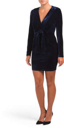 Juniors Australian Designed Midnight Hour Velvet Dress