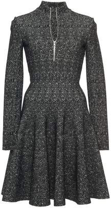 Alaia Azzedine Long Sleeve Front Zip Skater Dress