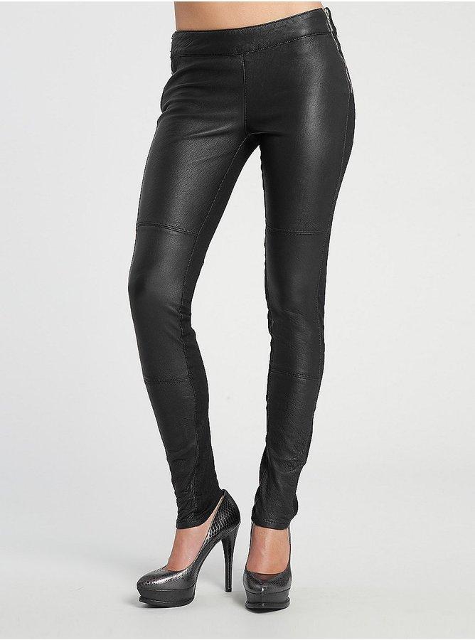 Tracker Leather Front Denim Legging