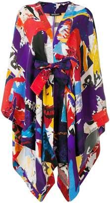 Balmain multiprint oversized robe