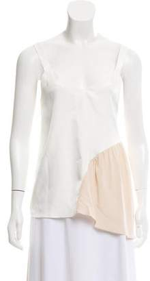 Tibi Shirred Color-Block Cami