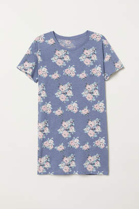 H&M Nightgown with Printed Design - Blue