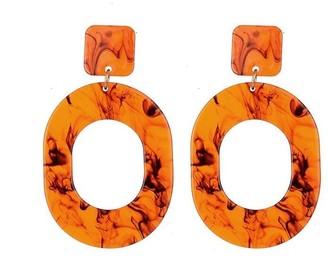 Jon Richard Jewellery Tortoiseshell Drop Hoop Earrings