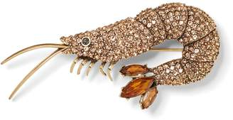 Banana Republic Jeweled Shrimp Brooch
