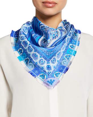 Etro Paisley Triangle Silk Scarf