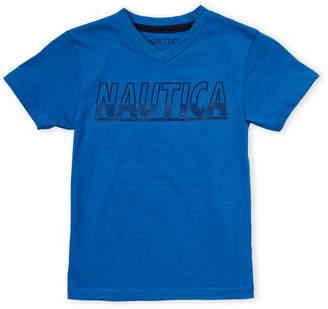 Nautica Boys 4-7) V-Neck Logo Tee