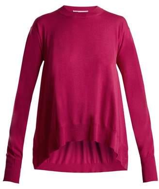 Stella McCartney Side Slit Wool Sweater - Womens - Pink