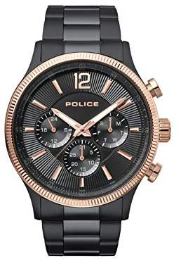 Police Mens Multi dial Quartz Watch with Stainless Steel Strap PL.15302JSBR/02M