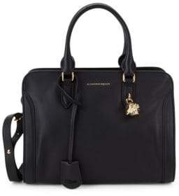 Alexander McQueen Small Pebbled Leather Boxed Tote