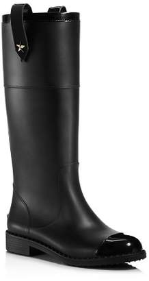 Jimmy Choo Edith Rubber & Leather Tall Boots