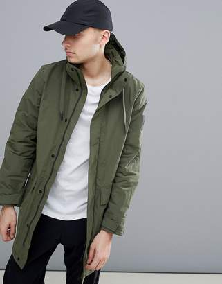 Peak Performance Zak Parka Jacket In Dark Green