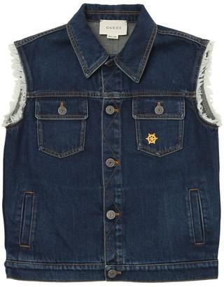 Gucci Embroidered Denim Vest