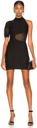 Cushnie Mock Neck Mini Dress