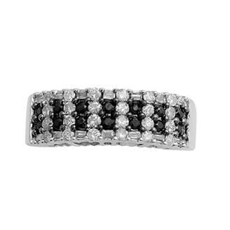 Jewelili Sterling Silver Half Eternity Gemstone Ring O2bbcPRdj