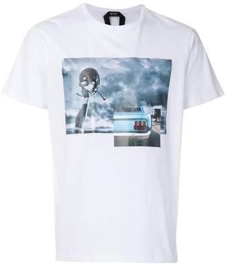 No.21 helmet print T-shirt