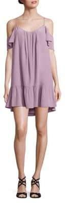 Joie Stellara Silk Cold-Shoulder Dress
