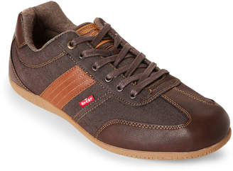Levi's Brown Solano Nappa Denim Low-Top Sneakers