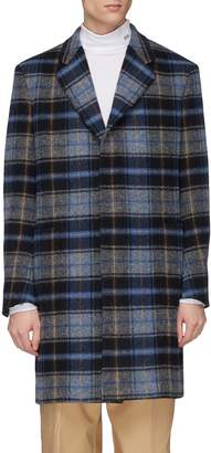 Calvin Klein x Pendleton Woolen Mills tartan plaid virgin wool twill coat