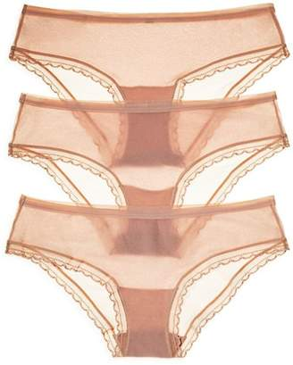 OnGossamer Next to Nothing Briefs, Set of 3
