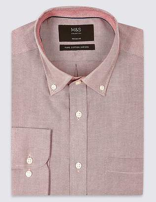 Marks and Spencer Pure Cotton Regular Fit Oxford Shirt