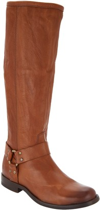 Frye Wide Calf Leather Tall Shaft Boots - Phillip Harness
