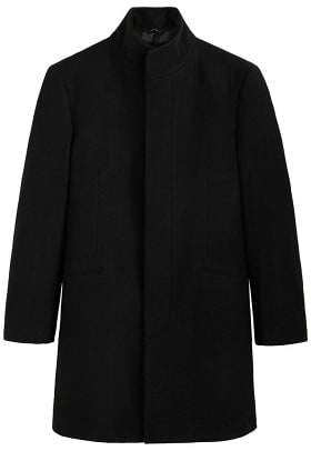 Mango man MANGO MAN Wool funnel neck coat