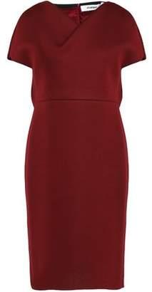 Chalayan Draped Mélange Modal-Ponte Dress