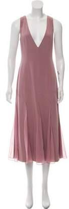 Prabal Gurung Sleeveless A-Line Dress Purple Sleeveless A-Line Dress