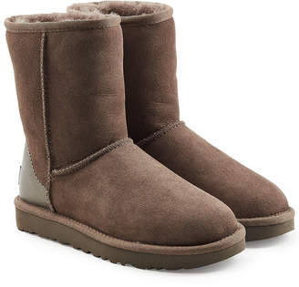 UGG Classic Short Suede Boots with Metallic Detail