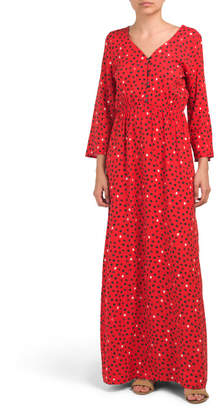 Made In Italy Geo Dot Print Maxi Dress