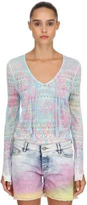 Zadig & Voltaire Zadig&voltaire Printed Mesh Cotton Sweater