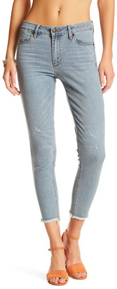 Just USA Frayed Hem Skinny Jean (Juniors) $59.99 thestylecure.com